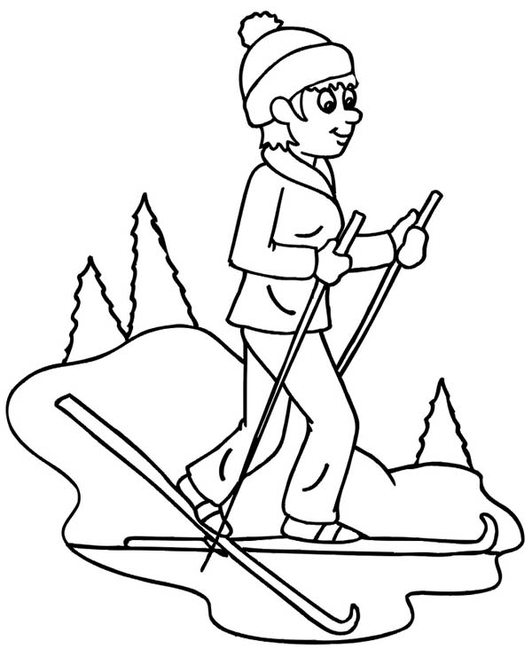 cross country skiing coloring pages - photo#5
