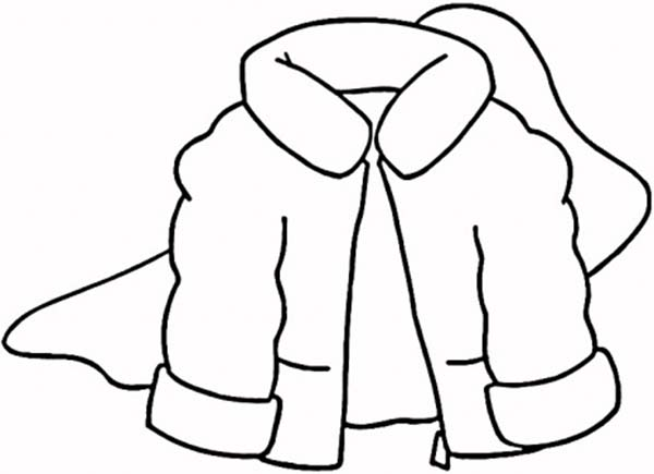 Fluffy Jacket in Winter Season Coloring Page | Coloring Sky