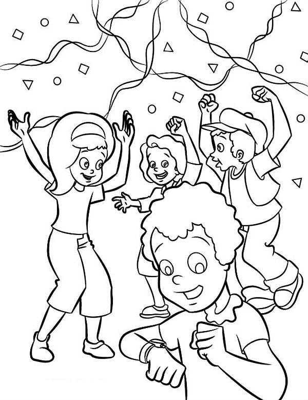 new years countdown coloring pages - photo#14
