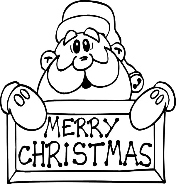 merry christmas santa claus coloring pages - Santa Claus Coloring Page