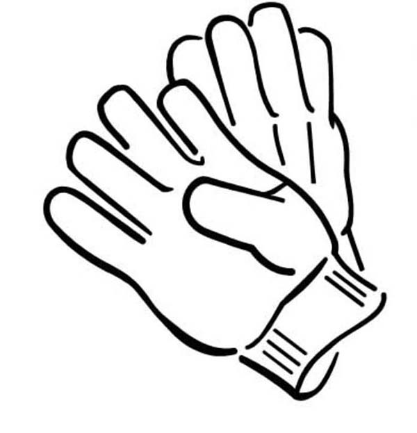 Pair of gloves in winter season coloring page coloring sky for Coloring pages of mittens and gloves
