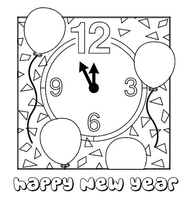 new year coloring pages 2015 for kids