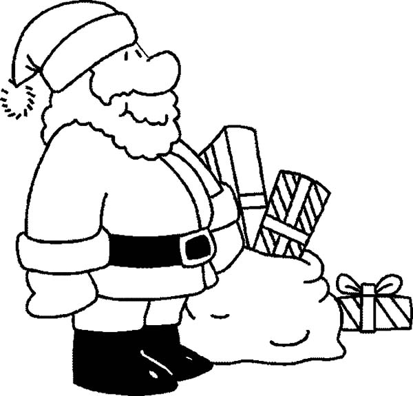 santa claus coloring pages for kids - Santa Claus Coloring Pictures For Kids