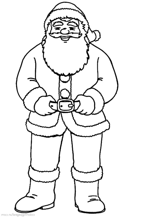 Santa Claus Put On His Belt Coloring Pages Coloring Sky