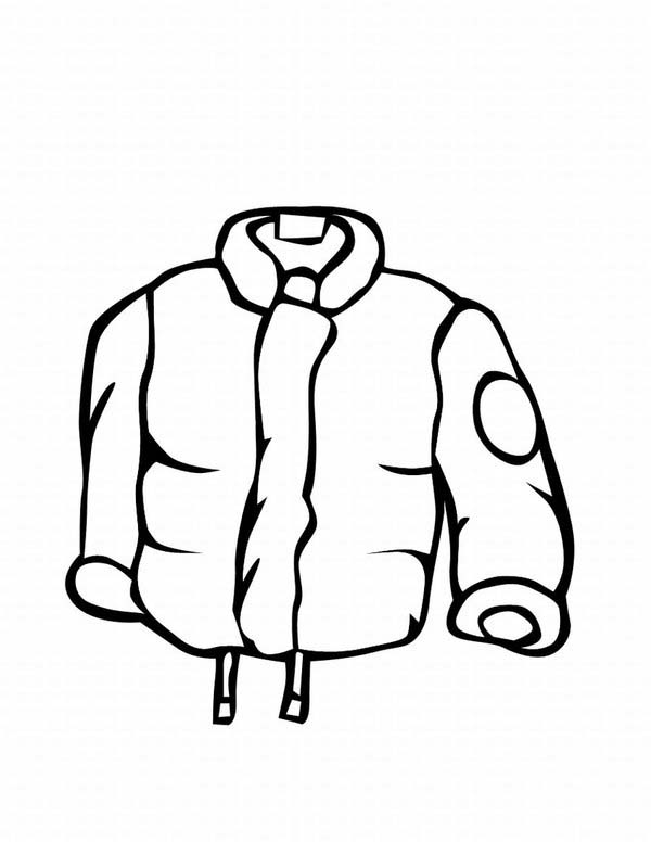 Stay warm with a jacket in winter season coloring page for Winter coat coloring page
