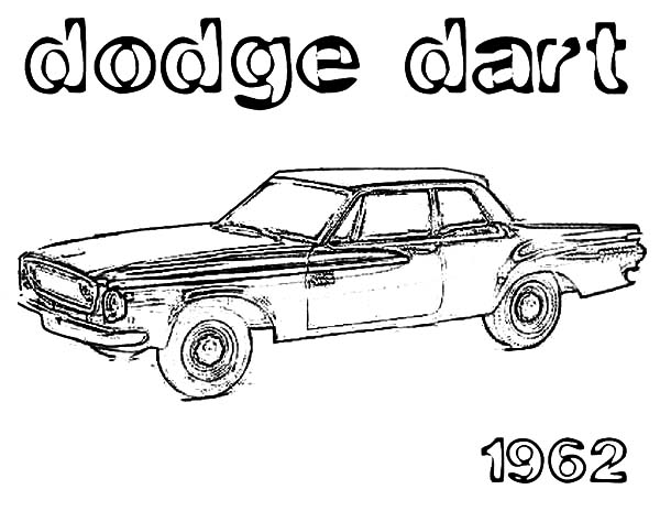 1962 dodge dart car coloring pages
