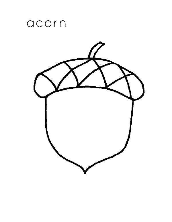 a is for acorn coloring pages