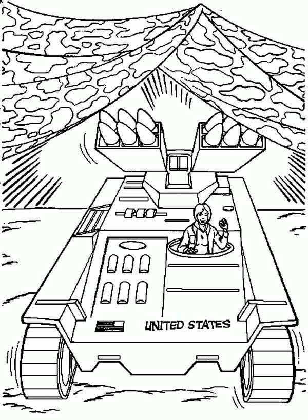 Action Man Camouflage Tank Coloring Pages Coloring Sky