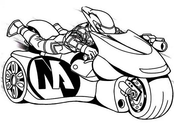 Action Man Turbo Bike Coloring Pages  Coloring Sky