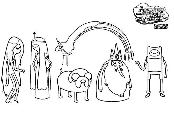 adventure time characters coloring pages coloring sky