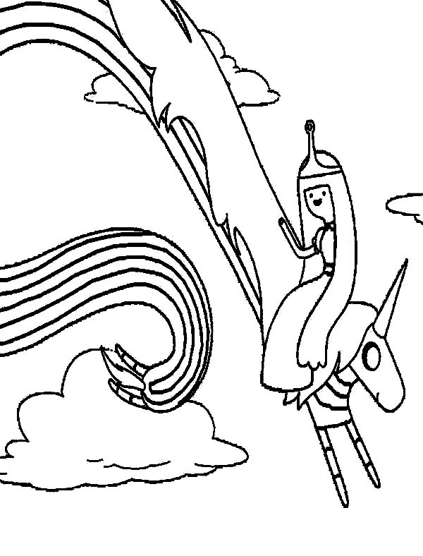 Lady Rainicorn - Free Coloring Pages