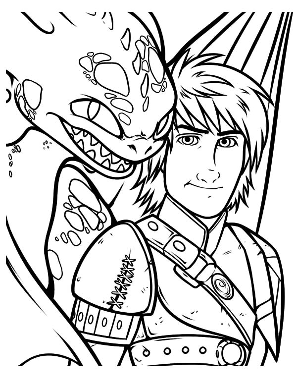 Adventure Of Hiccup And Toothless In How To Train Your Dragon Coloring Pages