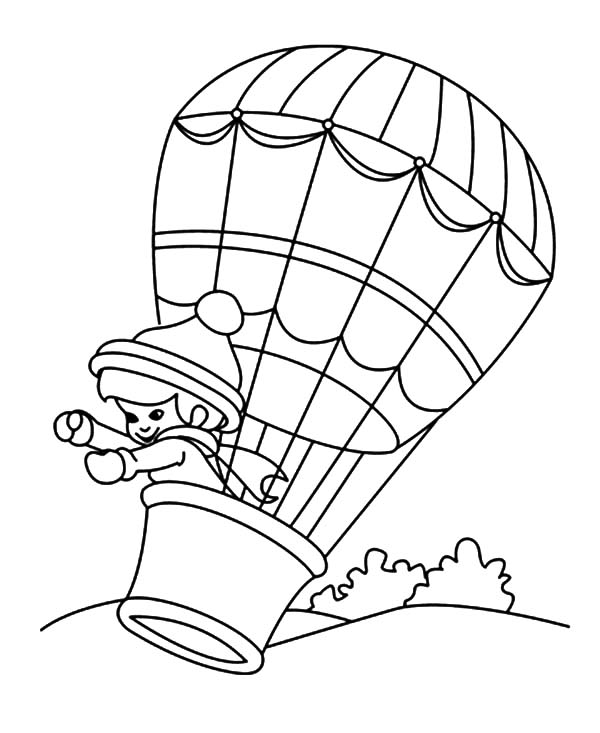 Adventure on Hot Air Balloon Coloring Pages Coloring Sky