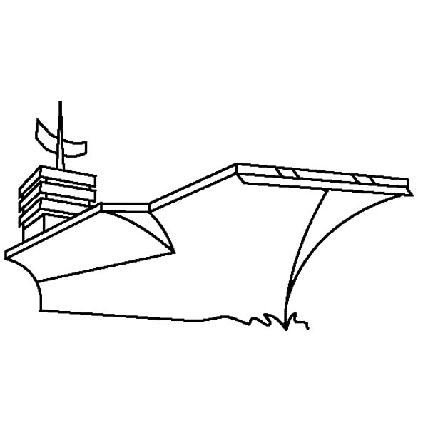aircraft carrier outline coloring pages