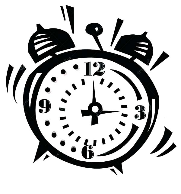 Alarm Clock Ringing So Loud Coloring Pages