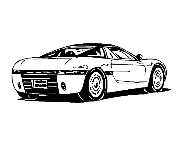 bmw dodge viper coloring pages