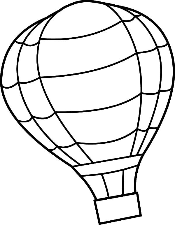 Hot air balloon free colouring pages for Balloon coloring pages
