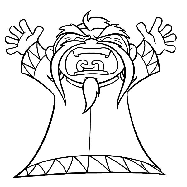 American Dragon Jake Long Grandpa Screaming Loud Coloring Pages
