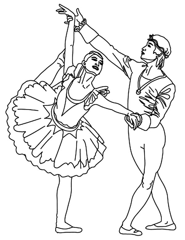 Ballet Dance Competition Coloring Pages | Coloring Sky