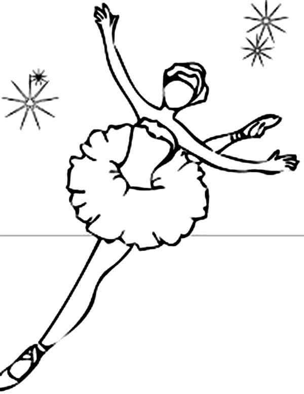 Ballet Dance Show Coloring Pages