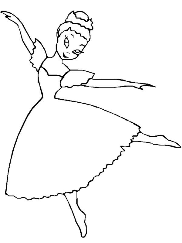 Ballet Dancer Coloring Pages | Coloring Sky