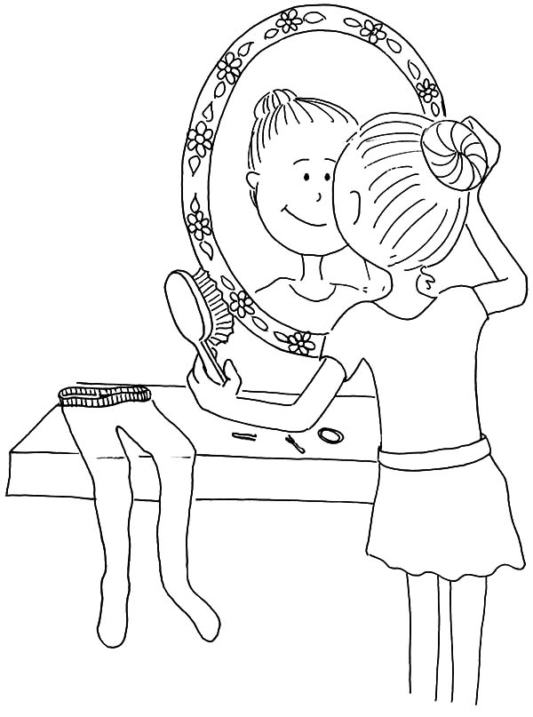 Hair Bun Coloring Page Coloring Pages