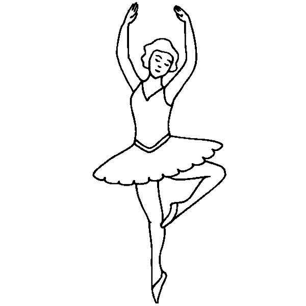 free coloring pages of ballerina silhouette