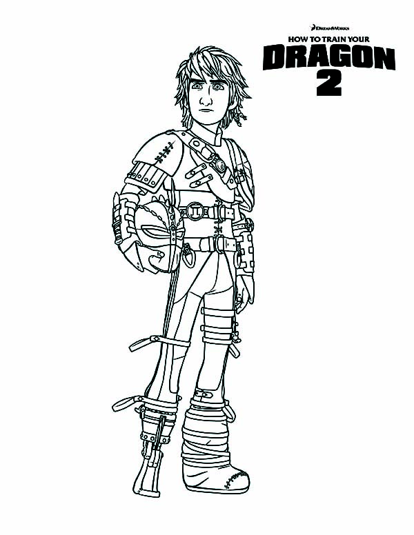 How To Train Your Dragon Berg Village Chief Hiccup In Furious Night Fury Coloring Pages