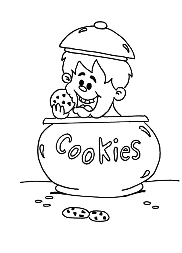 Cookie Jar Printable Coloring Pages