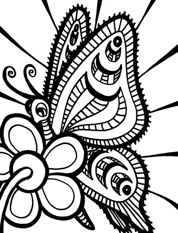 Abstract Butterfly Coloring Pages | www.pixshark.com
