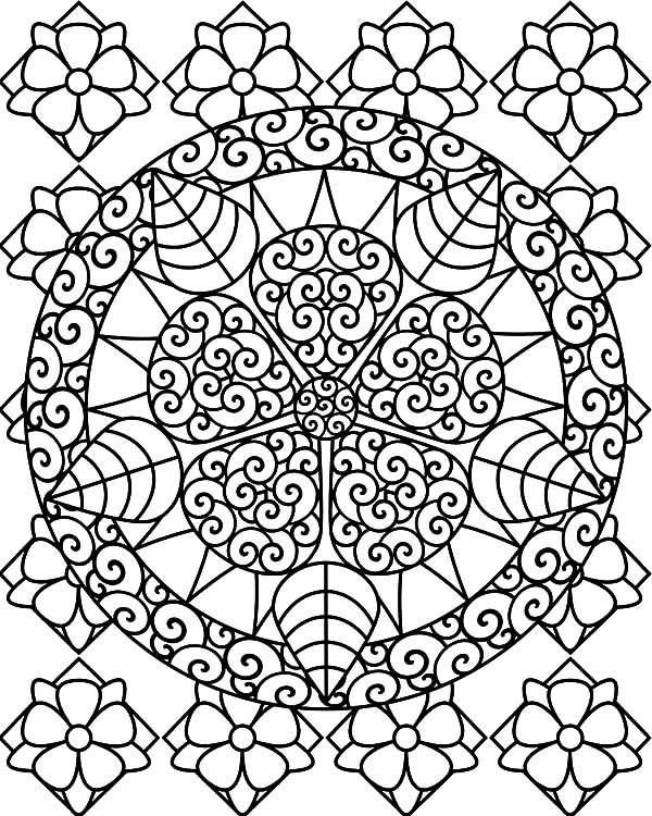 Indonesian Batik Abstract Coloring Pages Coloring Sky
