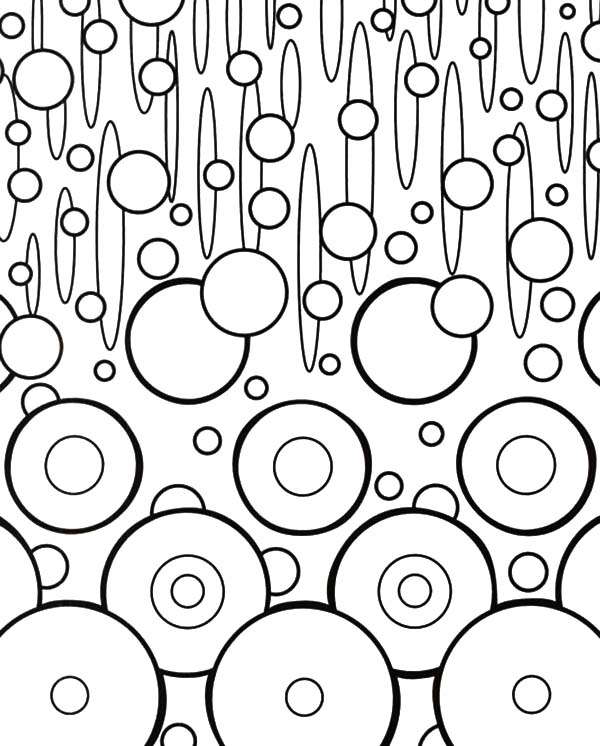 Changing Shape Abstract Coloring Pages | Coloring Sky