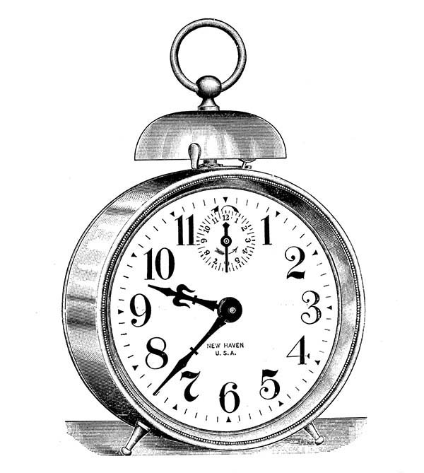Classic Alarm Clock Coloring Pages