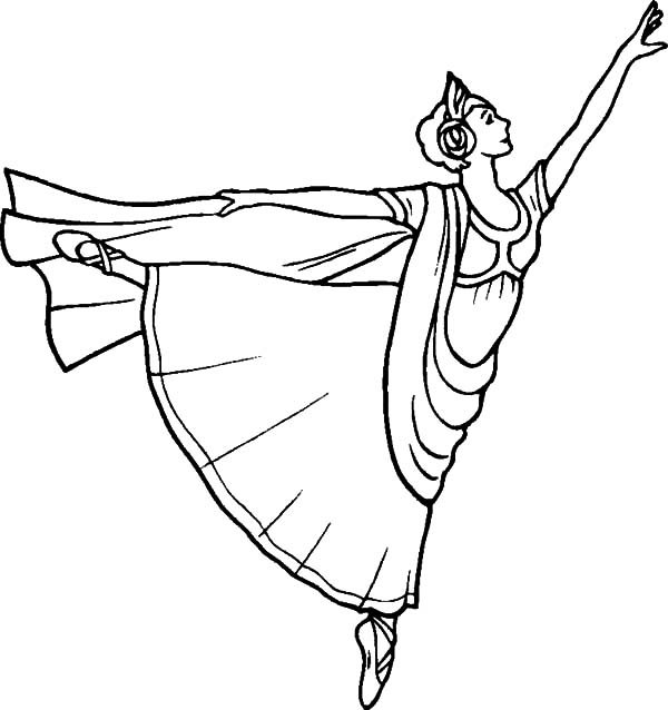 Ballet Girl, : Classic Ballerina Girl Coloring Pages
