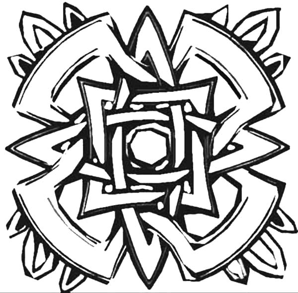 easy abstract coloring pages - photo#15