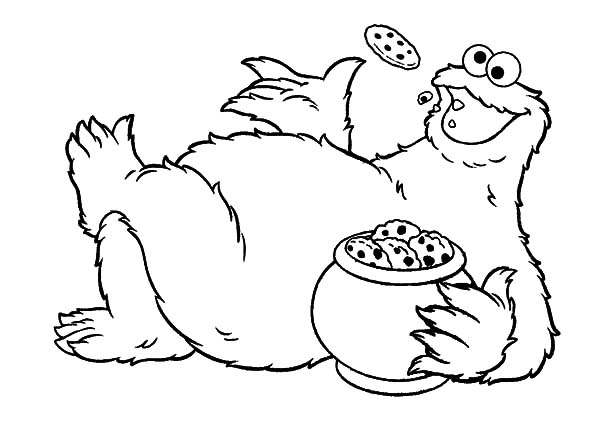Cookie Jar Lazing With Beside Him Coloring Pages