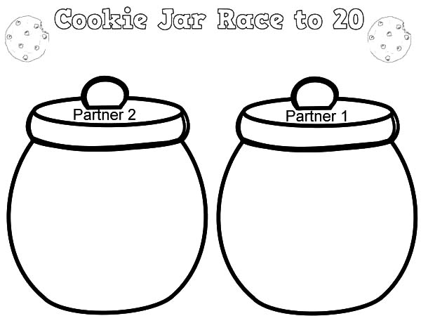 Cookie Jar Race To 20 Coloring Pages
