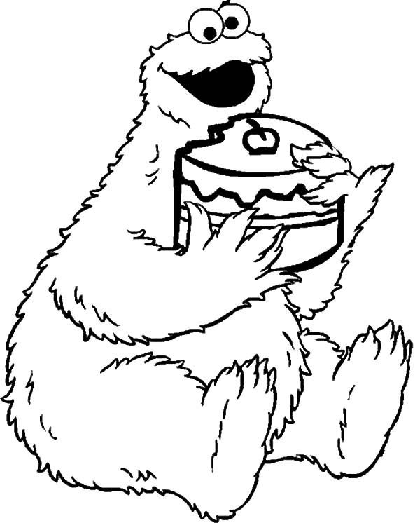 c is for cookie printable coloring pages - photo #49