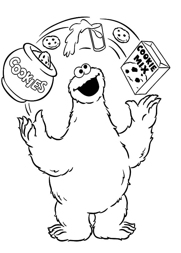 King Cookie Monster Coloring Pages