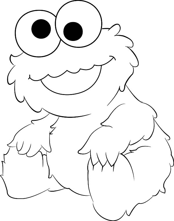 cute baby cookie monster coloring pages - Baby Cookie Monster Coloring Pages