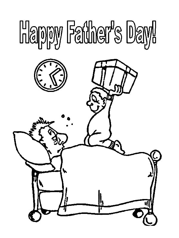 I Love Dad, : Daddy Wake Up Its Father day I Love Dad Coloring Pages
