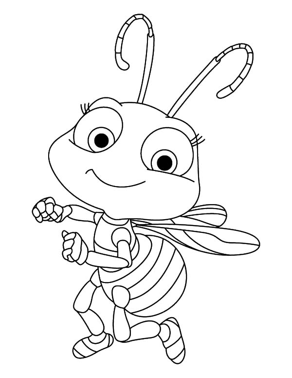 Dancing Honey Bee Coloring Pages | Coloring Sky