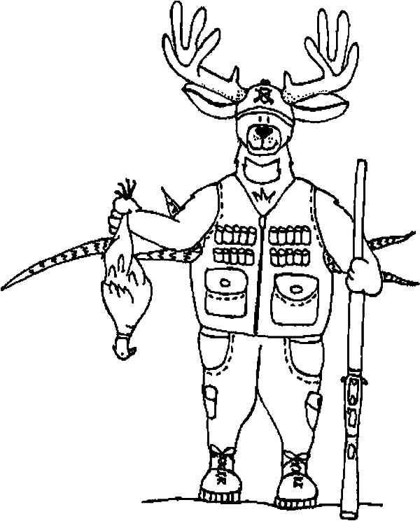 Omnok the hunter hunting with bow and arrow coloring pages for Hunter coloring pages