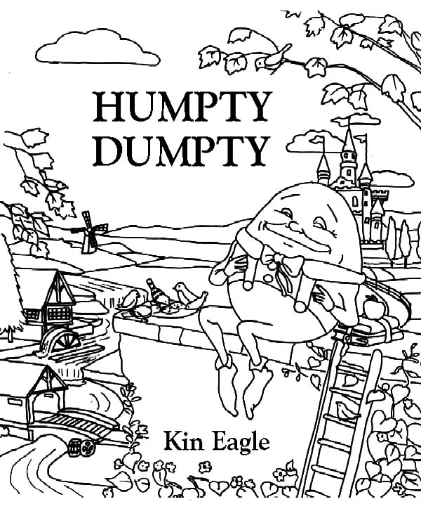 Denslows Humpty Dumpty Coloring Pages Coloring Sky