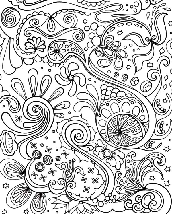 Optical Illusion Abstract Coloring Pages Coloring Sky
