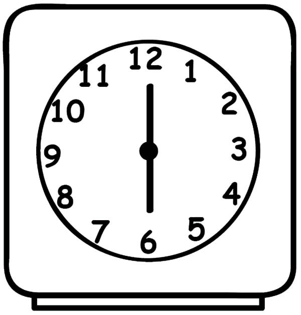Digital alarm clock coloring pages