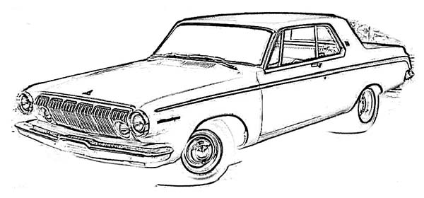 Coloring Pages Trucks And Cars Car Transporter Cement