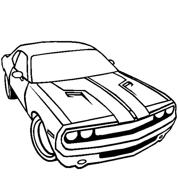 Dodge Car Challenger Coloring Pages Coloring Sky