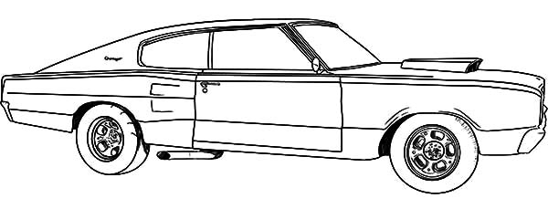 muscle car dodge coronet coloring pages