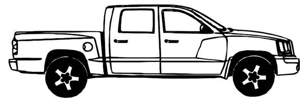 Dodge Car Dakota Truck Coloring Pages